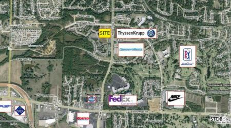 Tennessee land for sale shelby county commercial office building lots